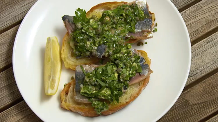 The Ultimate Health Snack- Sardines on Toast with Salsa Verde